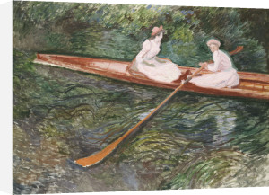 The Pink Rowing Boat by Claude Monet