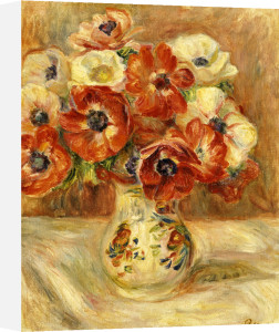 Still Life With Anemones by Pierre Auguste Renoir