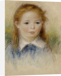 Portrait De Fillette by Pierre Auguste Renoir