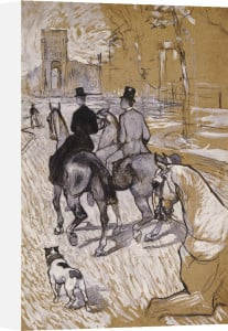 Riders on the Way to the Bois Du Bolougne, 1888 by Henri de Toulouse-Lautrec