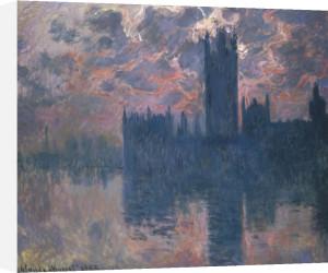 Parliament, Sunset, 1902 by Claude Monet