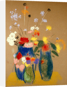 Three Vases Of Flowers, Circa 1908 by Odilon Redon