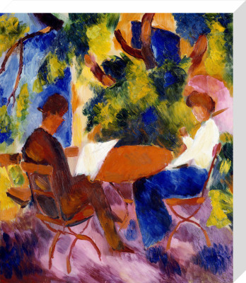 At the Garden Table, 1914 by August Macke