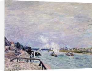 The Seine At Grenelle - Wet Weather, 1878 by Alfred Sisley