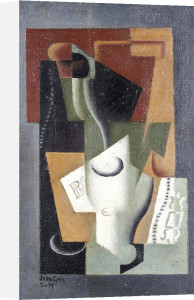 Glass And Bottle, 1919 by Juan Gris