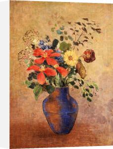 The Blue Vase by Odilon Redon