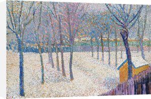 The Orchard In The Snow by Hippolyte Petitjean