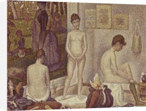 Les Poseuses Including A Reference To Dimanche Apres-Midi Sur La Grande Jatte, Umbrella by Georges Seurat