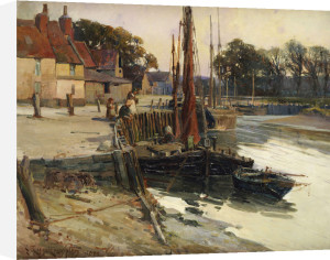 A Cornish Fishing Village, 1900 by Edward Reginald Frampton