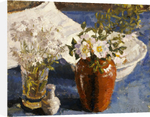 Still Life With Flowers In A Vase, C. 1911 by Harold Gilman