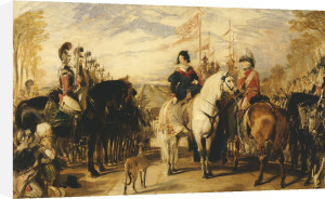 Queen Victoria And The Duke Of Wellington Reviewing The Life Guards, 1839 by Sir Edwin Henry Landseer