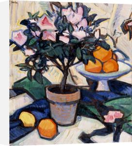 Pink Azalea And Oranges, Circa 1913 by Samuel John Peploe
