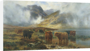 By Loch Treachlan, Glencoe, Morning Mists, 1907 by Louis Bosworth Hurt
