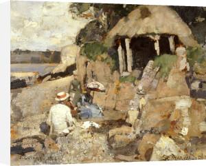 The Summer House, St. Mary's Isle, Kirkcudbright, 1886 by Sir James Guthrie