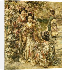 In A Kyoto Garden, 1922 by Edward Atkinson Hornel