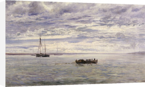 Chesil Beach, Rain Clearing Off, 1883 by Henry Moore