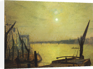 Southwark Bridge From Blackfriars By Night, 1881 by John Atkinson Grimshaw
