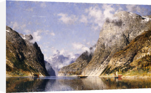 A Norwegian Fjord by Adelsteen Normann