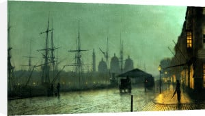Humber Dockside, Hull, Dated 1882 by John Atkinson Grimshaw