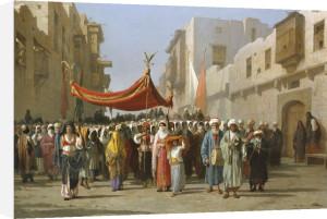 An Arab Wedding Procession, 1888 by Vincenzo Marinelli