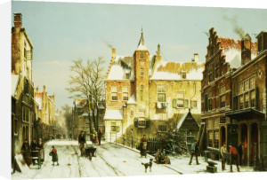 A Dutch Village In Winter by Willem Koekkoek