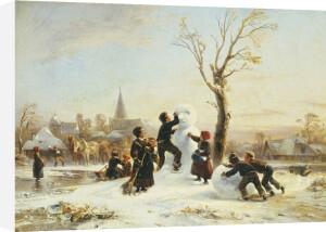 The Village Snowman by Wilhelm Alexander Meyerheim