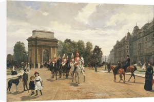 The Life Guards Passing Hyde Park Corner, London, C.1886 by Felippo Baratti
