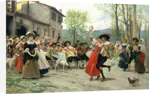 Silks And Satins At The Wedding Dance by Federigo Andreotti