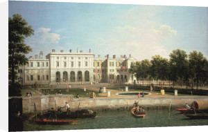 Old Somerset House From The River Thames, London by Giovanni Canaletto