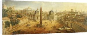 Piazza Del Popolo, Rome by Gaspar Van Wittel