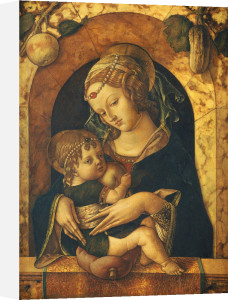 The Madonna And Child At A Marble Parapet by Carlo Crivelli
