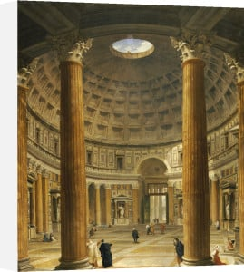 The Interior Of The Pantheon, Rome, Looking North From The Main Altar To The Entrance, 1732 by Giovanni Paolo Panini