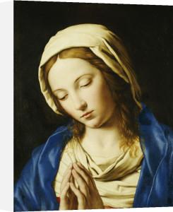 The Madonna, Bust Length, At Prayer by Sassoferrato (Giovanni Battista Salvi)
