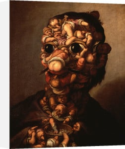 A Head Formed Out Of Pygmies by Faustino Bocchi