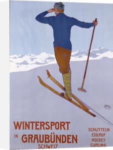 Wintersport in Graubunden, 1906 by Walter Koch