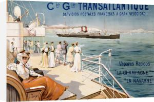 Cie. Gle. Transatlantique, C.1910 by Ernest Louis Lessieux
