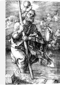 Saint Christopher Facing Right, 1521 by Albrecht Dürer
