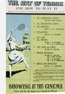 The Art Of Tennis by Christie's Images
