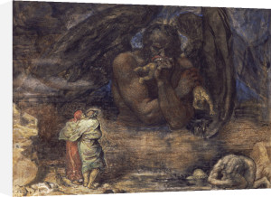 Dante And Virgil Encounter Lucifer In Hell, 1923 by Henry John Stock