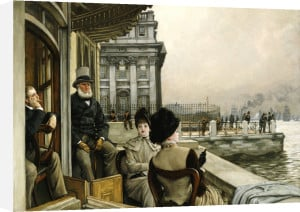 The Terrace of the Trafalgar Tavern, Greenwich, c.1878 by James Jacques Joseph Tissot