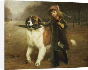 Off To School by Charles Burton Barber
