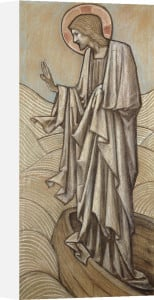 Christ Stilling The Waves: A Design For Stained Glass At Brighouse, Yorkshire, 1896 by Sir Edward Burne-Jones
