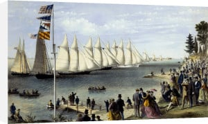 The New York Yacht Club Regatta by Currier & Ives