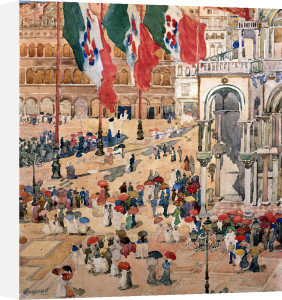 Piazza Of St by Maurice Prendergast
