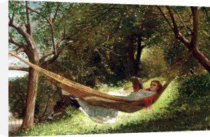 Girl In The Hammock by Winslow Homer
