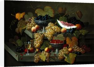 Still Life Of Fruit by Severin Roesen
