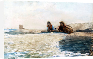 The Breakwater by Winslow Homer