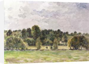 Eragny Evening by Camille Pissarro