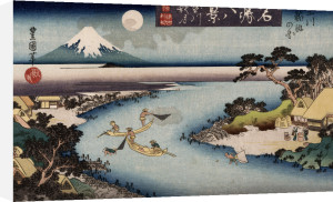 'Autumn Moon, Tama River by Utagawa Toyokuni
