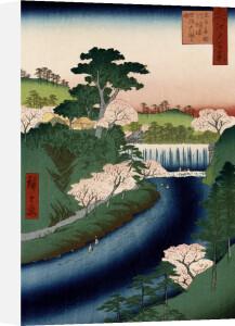 'Otonashi River Dam, Oji, Popularly Called Great Waterfall by Ando Hiroshige